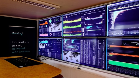 Monitoring room at Dualog