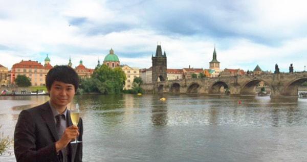出張で訪れたプラハにて
